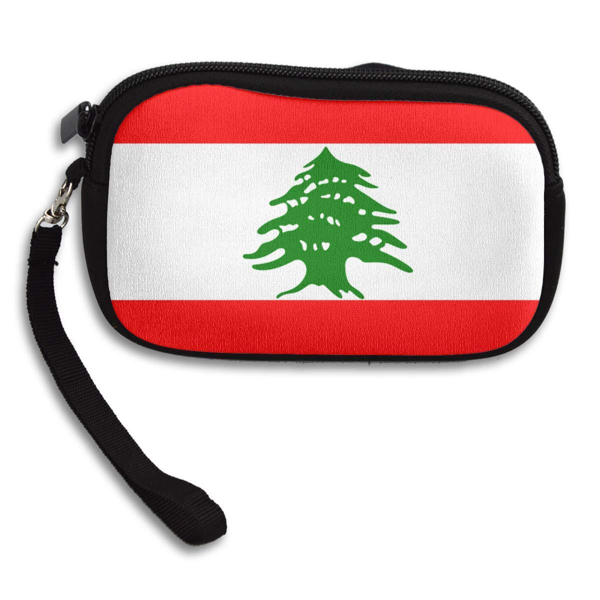 Lebanon Flag Coin Purse Cute Change Purse,Make Up Bag,Cellphone Bag With Handle Purses For Women