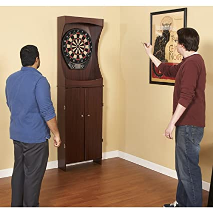 NG1040 Outlaw Free Standing Dart Cabinet Set With Electronic Scoring System
