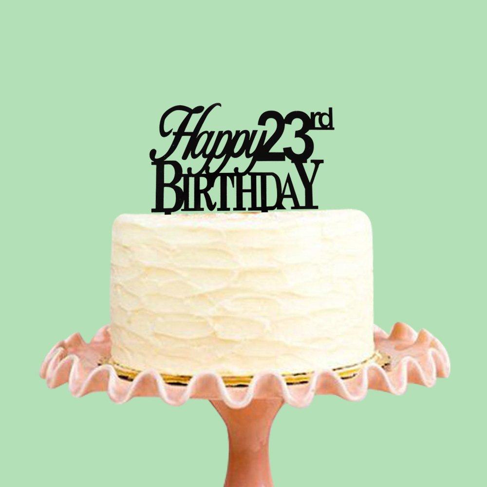 Amazon Succris Happy 23rd Birthday Cake Tooper 23rd Birthday