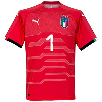 online store ad975 4aeac Amazon.com : PUMA Italy Away Buffon 1 Goalkeeper Jersey 2018 ...
