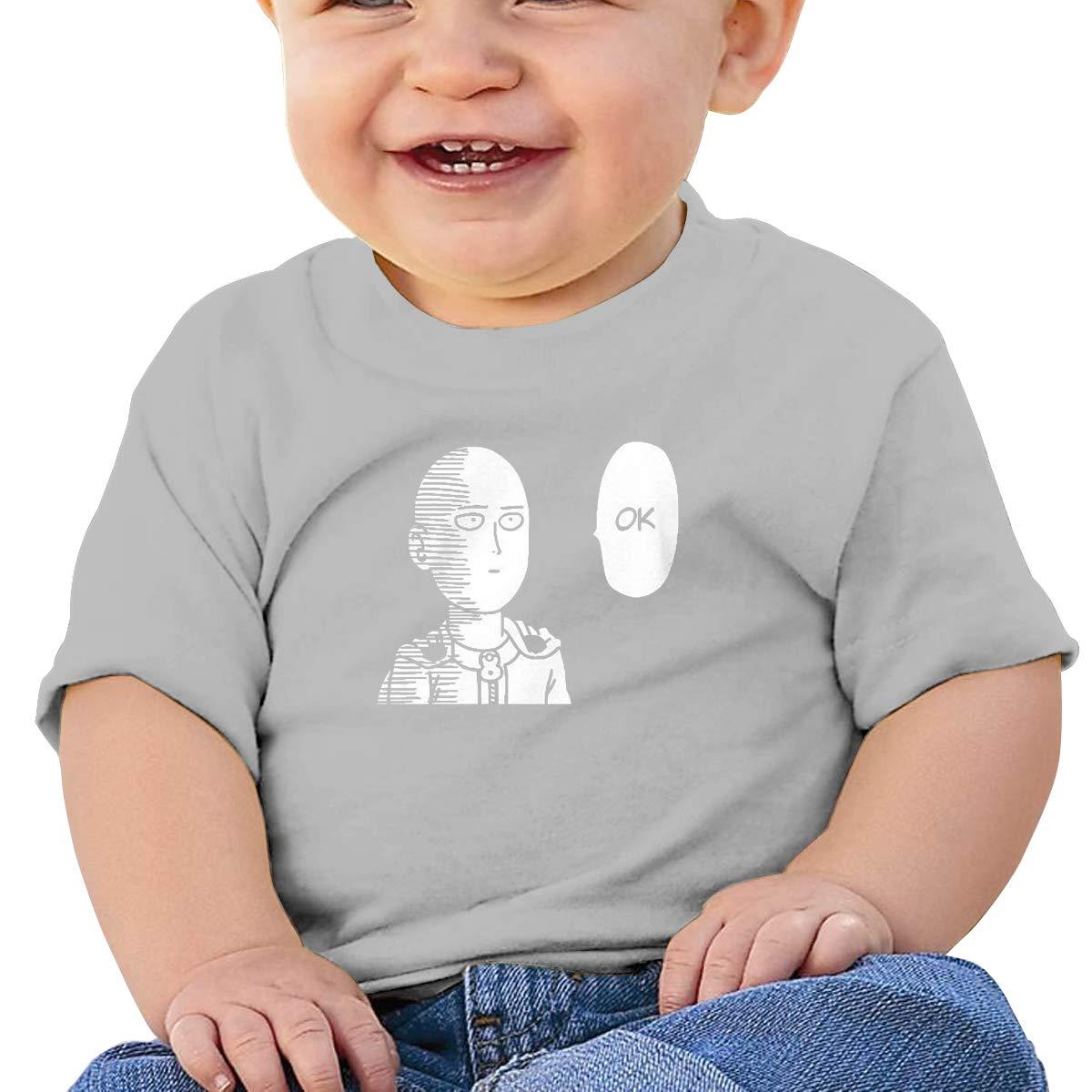 Saitama Ok Nordic Winter Personality Wild Gray 6-24 Month Baby T-Shirt One Punch Man