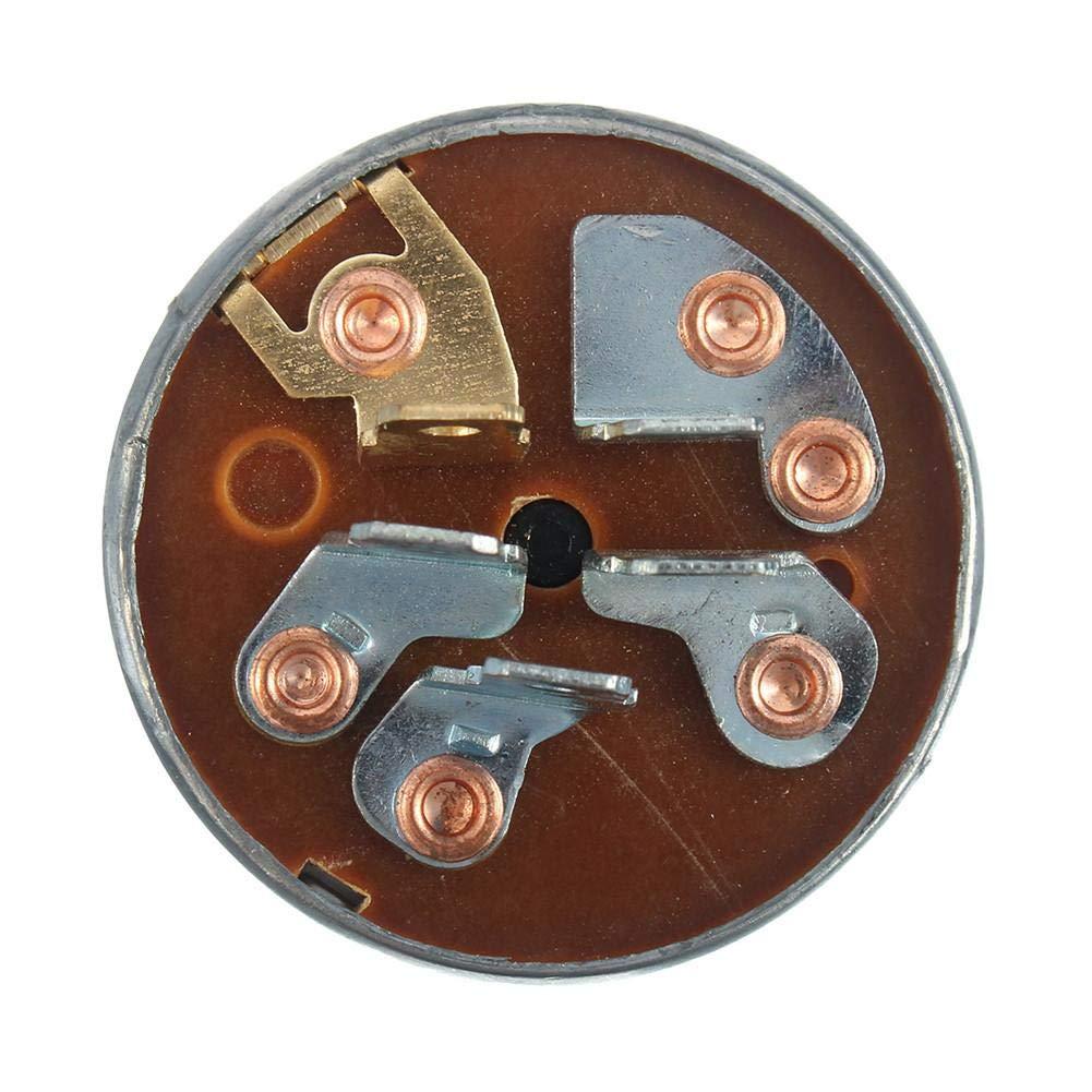 aeronutic Interrupteur Dallumage Interrupteur De D/émarrage avec 2 Cl/és 5 Broches pour La Tondeuse /À Gazon pour Tracteur pour Husqvarna 725-0267 725-0267A 925-0267 925-0267A
