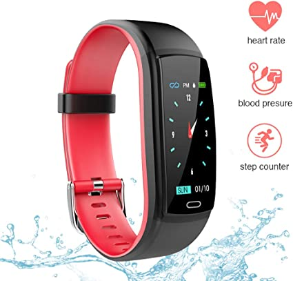 EachMay Fitness Tracker Waterproof, Activity Smart Watch with Heart Rate, Blood Pressure, Sleep Monitor and Step Counter Color Screen for Android & ...