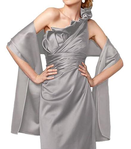 Flora diseño de vestido de fiesta trajes de novia de raso vestido de dama de honor chal para bordadas robó envoltorio, 200,66 cm L