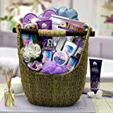 Ultimate Lavender Spa Oasis for Her -Women's Birthday, Holiday, or Mother's Day Gift Basket