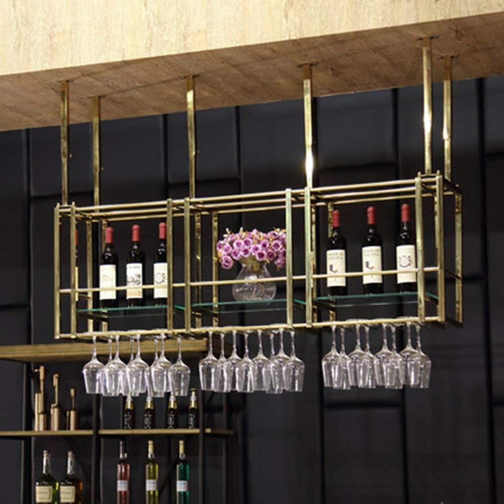XixuanStore リビングルームのワインラック、レストランのワインラック、装飾的なワインラック、ワインラック天井ステンレススチールラック吊りカップホルダーハイカップホルダーを補完する任意のスペース (Color : 100cm*30cm*50cm) B07P7VCQ1P 100cm*30cm*50cm