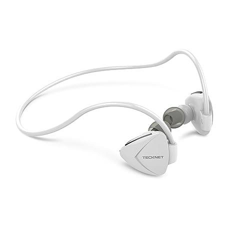 Auriculares Inalambricos Bluetooth Deportivos In Ear TeckNet Auriculares supraurales Bluetooth NFC con micrófono sin ruido,