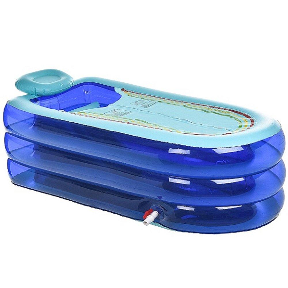 SYF Faltbare Aufblasbare Badewanne Aus PVC Aus Kunststoff Für Haushalt Liegend Badewanne Blau, Rosa 168X78X48cm A++ (Farbe : Pink, größe : A)
