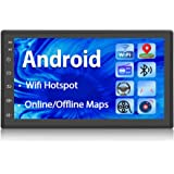 Podofo Car GPS Navigation Stereo - Double Din Android Head Unit with Bluetooth 7 inch LCD Touch Screen 1G + 16G Support…