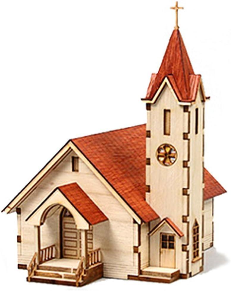 Desktop Wooden Model Kit Western Church ll / YG630