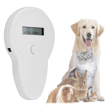 Qwhome ISO11785 / 84 FDX-B Microchip para Mascotas Escáner RFID Lector De Chip para Perro Lector De Gato Lector De Animales: Amazon.es: Productos para ...