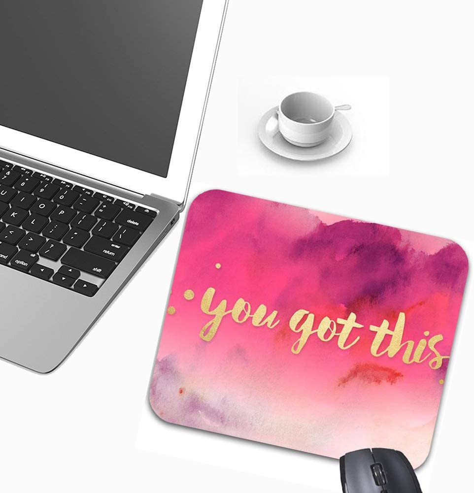 Inspirational Mouse Pads Stylish Office Accessories 9 x 7.5in You Got This