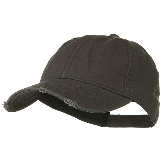 8b2807140 Otto Caps Superior Garment Washed Cotton Twill Frayed Visor Cap - Charcoal  Grey