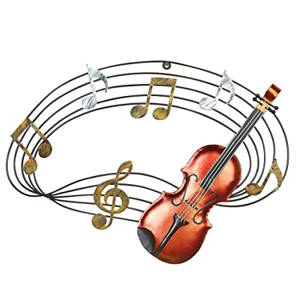 Super Amazon.com: Musical Notes and Violin Hand-Painted Hanging Wall Art  XZ12