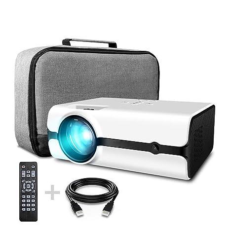 GLXLSBZ Proyector,Mini Proyector LED Lámpara de 2500 lúmenes ...