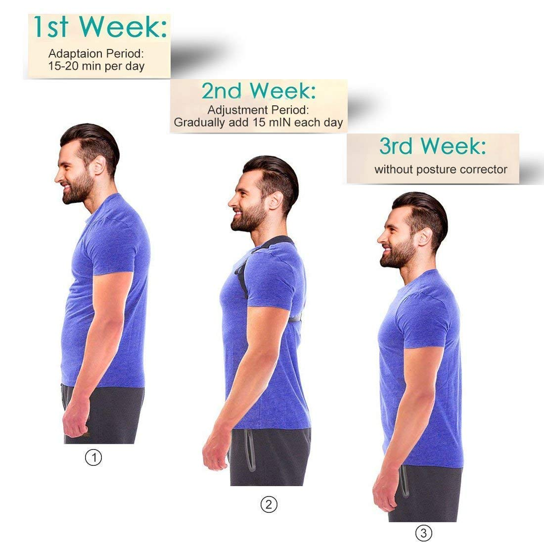 Belletek Back Posture Corrector for Women   Men   Kids - Effective and  Comfortable Posture Brace Figure corrector for Slouching   Hunching -  Clavicle ... 9d24c8e01