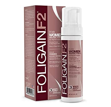 FOLIGAIN® MINOXIDIL FOAM FOR WOMEN 2% (177ml) 3 Month Supply