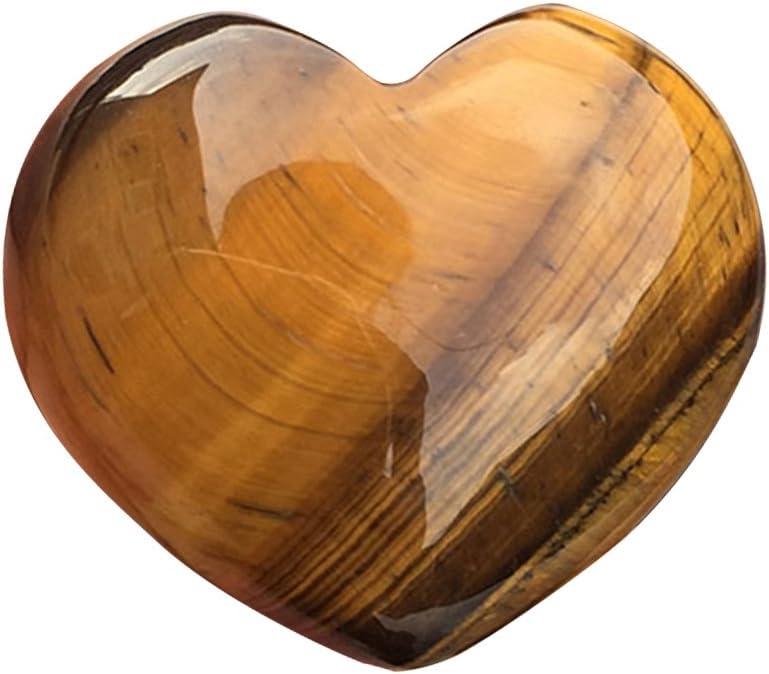 Piedra de cristal en forma de corazón, gemas Piedra preciosa de cristal natural Cuarzo rosa Ágata rayada en forma de corazón Cristal tallado Palma Amor Piedras preciosas curativas para accesorios
