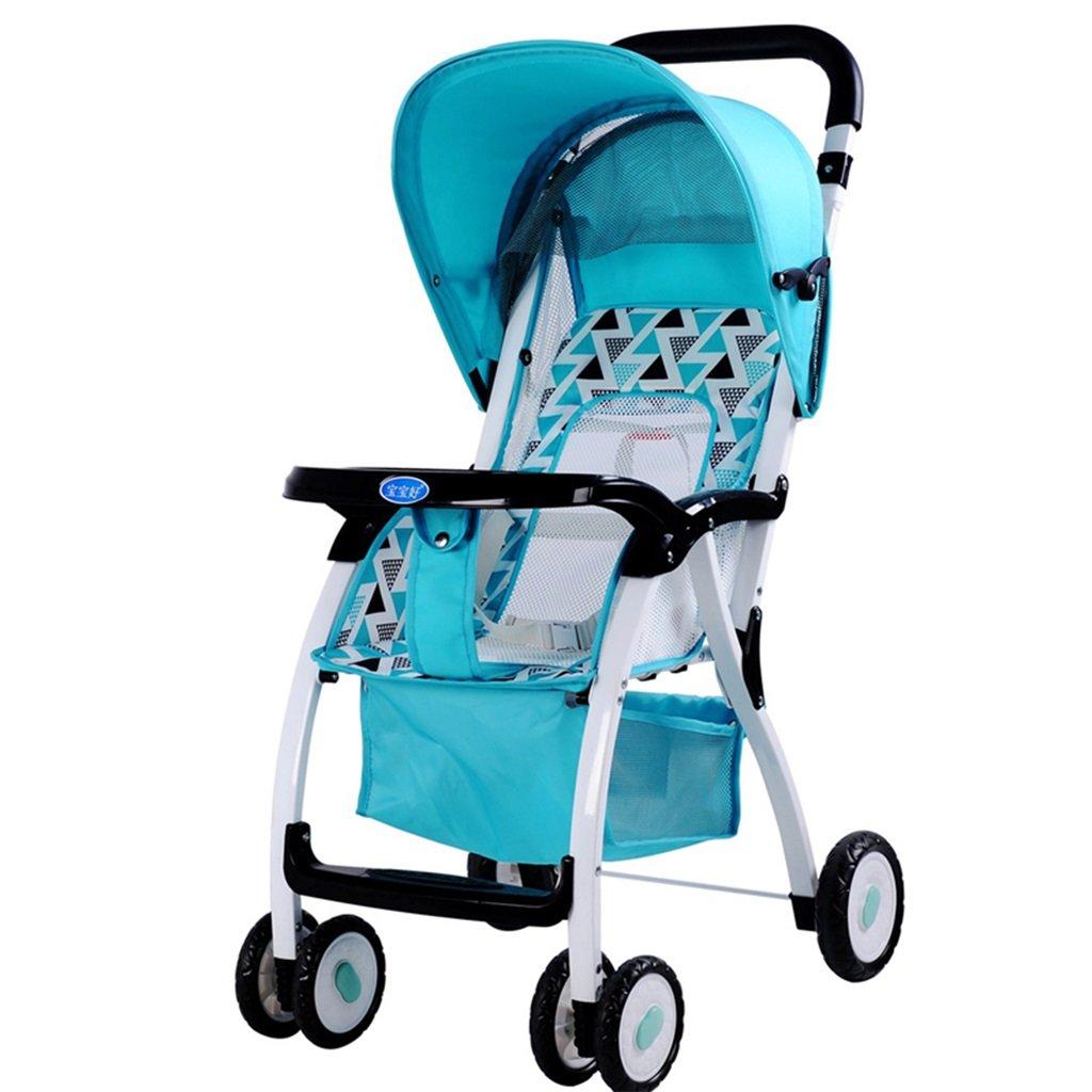 HAIZHEN マウンテンバイク 赤ちゃんカートアイロンフレームネットクッション折りたたみ可能な軽量ポータブル調節可能な日除け日保護アンチUVトロリーは座ることができます/赤ちゃんのキャリッジを嘘つきすることができます75 * 48 * 106cm 新生児 B07DL94HK1 3 3