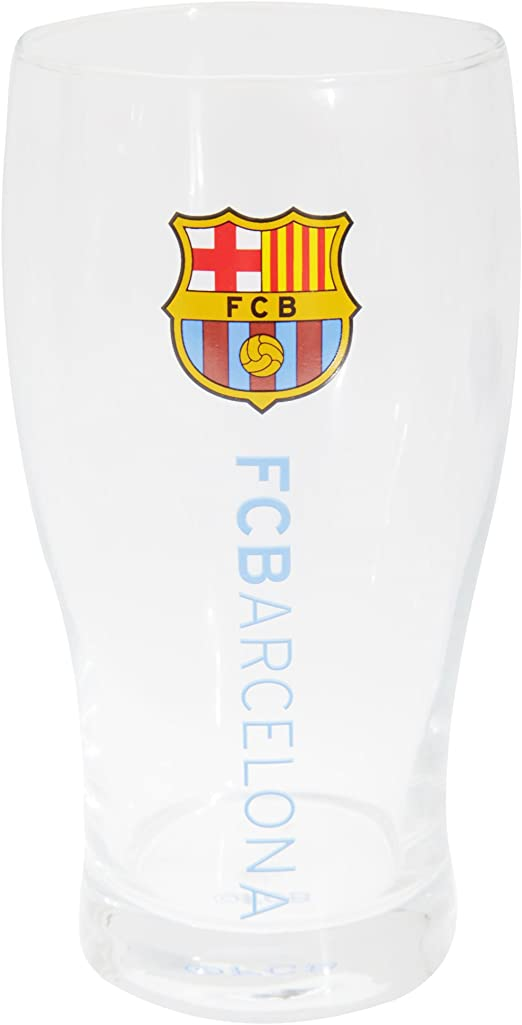 FC Barcelona Official - vaso de cerveza con escudo (Talla Única/Transparente): Amazon.es: Ropa y accesorios