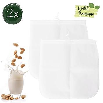 2 x Bolsa de Leche | – Trapo | Bolsa de filtro Juego de frutos secos