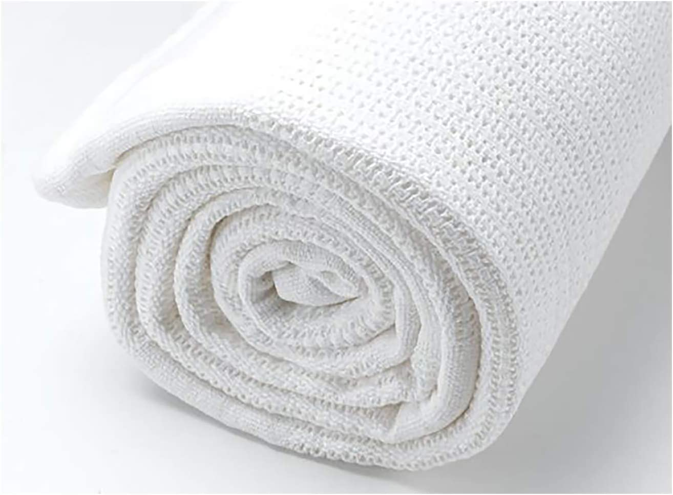 2 Pack Top Quality 100/% Baby Cotton Cellular Blankets Cot Bed Large Size 86 x 112cm White