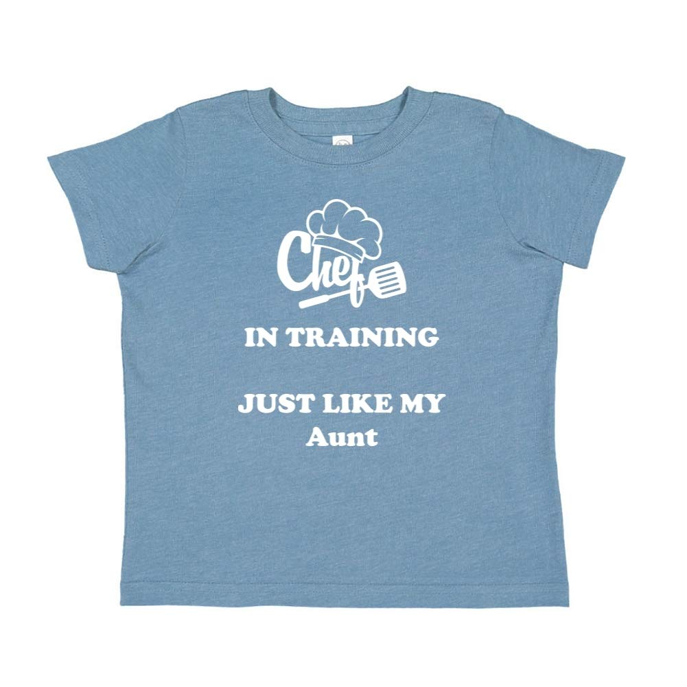 Toddler//Kids Short Sleeve T-Shirt Chef in Training Just Like My Aunt