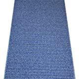 Washable Non-Skid Carpet Rug Runner - Michelle Blue (5')