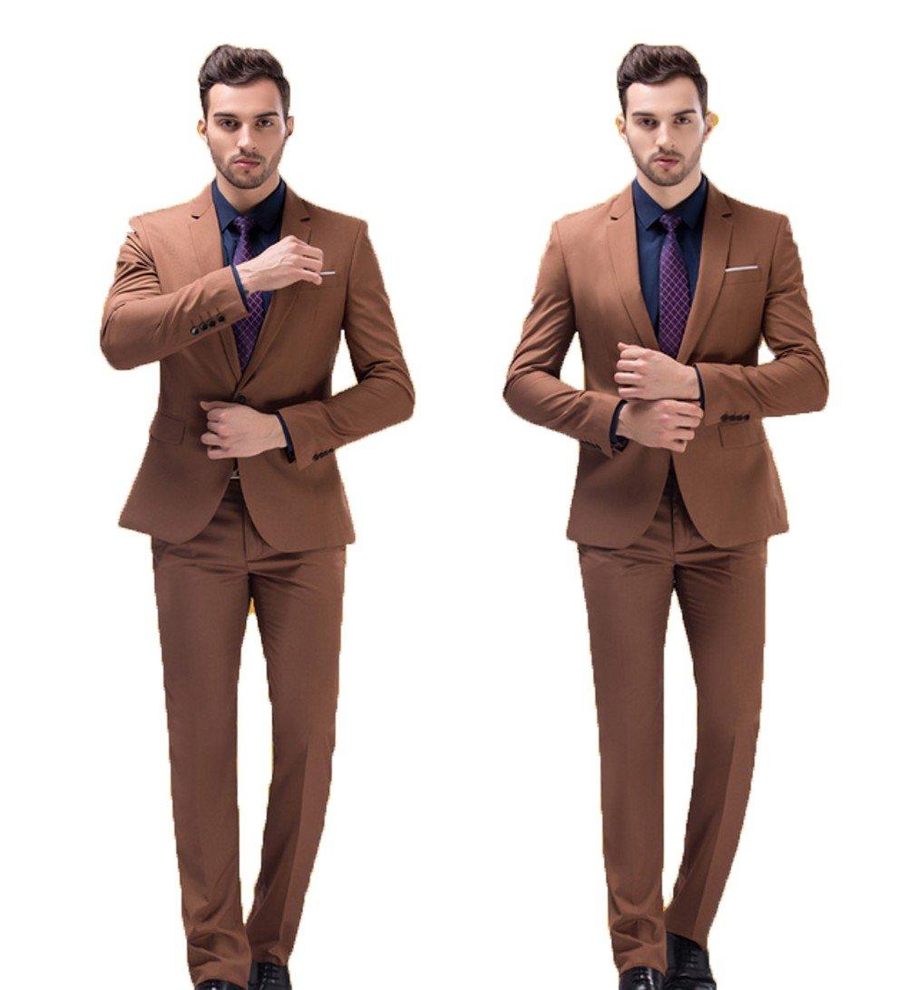 Love Dress Wedding Suits for Groom Tuxedos for Men Jacket Pant Khaki 5XL
