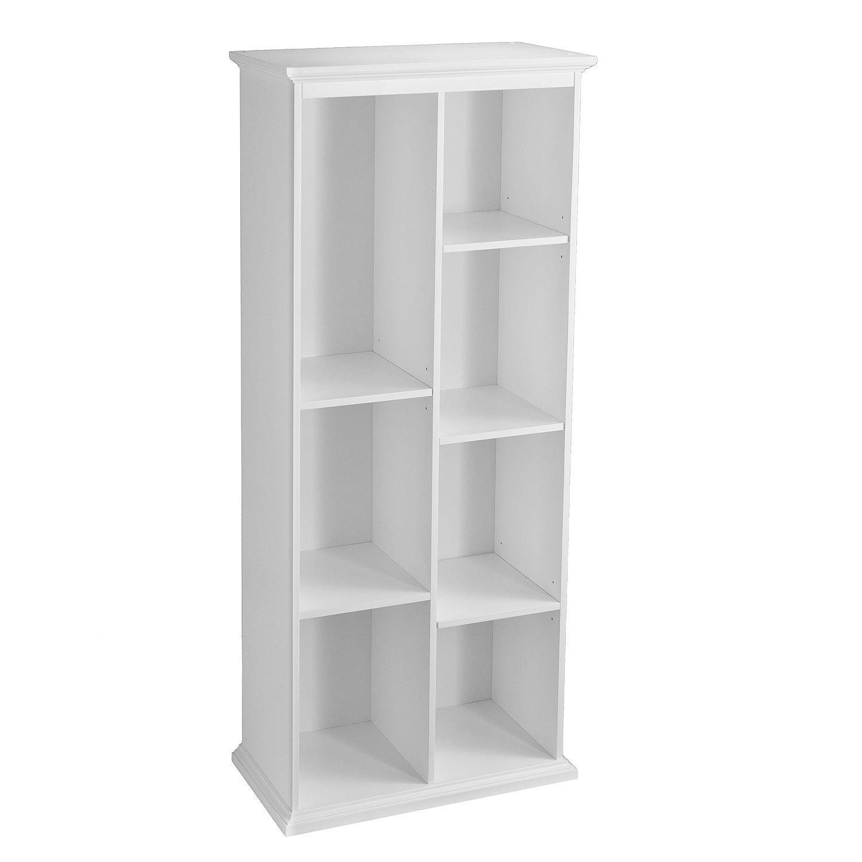 Morton Tall Bookcase, White | 77'' L x 20'' W x 5.75'' H