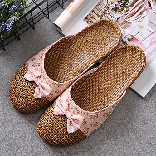 Asian Lovers Pink 35 Summer Home Male Sandals Green Thick Floor Hogar XING Slippers And Bottom Mujer Slippers 36 Interior GUANG Grass 37 38 Antideslizante 5IExwHwq1
