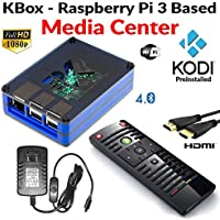 Raspberry Pi 3 Based - Extreme Media Center - Blue Case - Ir Remote - Kodi
