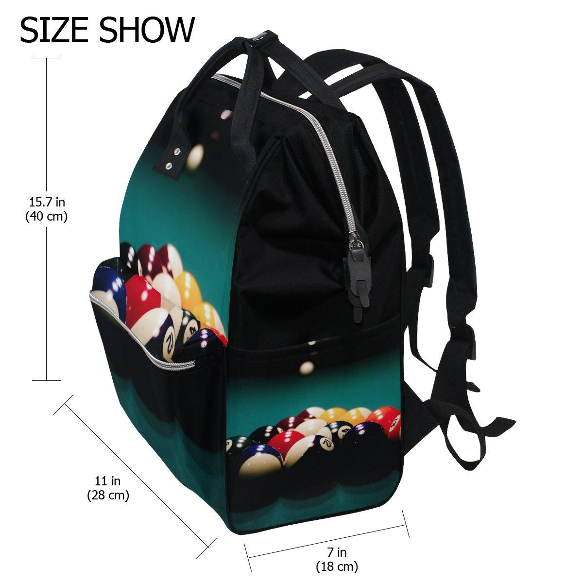 imobaby Cool Billiard Ball Sport Changing Bags Large Capacity Handbags Canvas Shoulder Bag Backpack