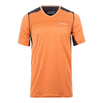 95fc0529bf63 Babolat Mens Performance V-Neck Short Sleeve Tennis T-Shirt: Amazon ...