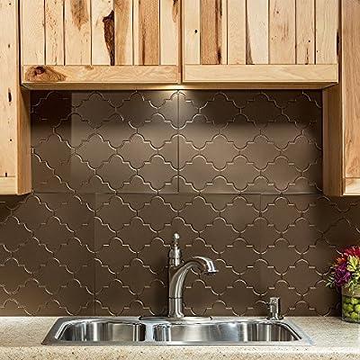 Fasade Easy Installation Monaco Backsplash Panel for Kitchen and Bathrooms