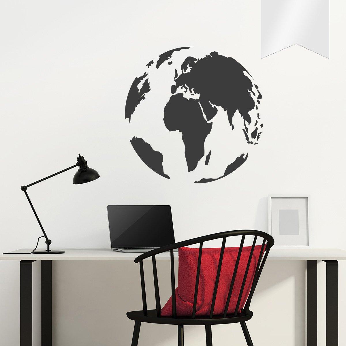 WANDKINGS Wandtattoo - Globus - 90 x 90 cm cm cm - Kupfer - Wähle aus 5 Größen & 35 Farben B078YD6Z7Q Wandtattoos & Wandbilder 6e2568