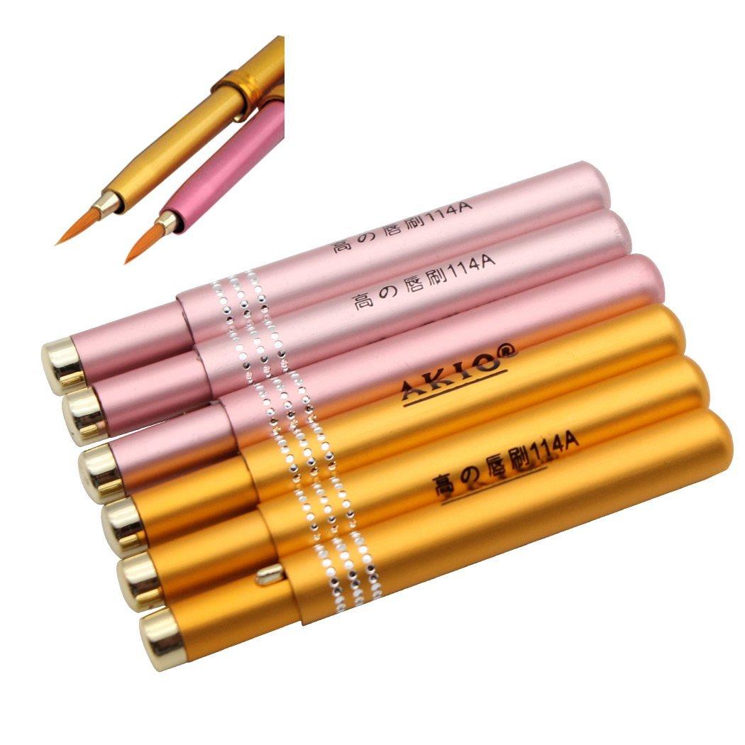 SIPLIV Lip Brushes Set of 6 Lipstick Makeup Brush Lipstick Gloss Wands Applicator Eyeliner Brushes Makeup Gift