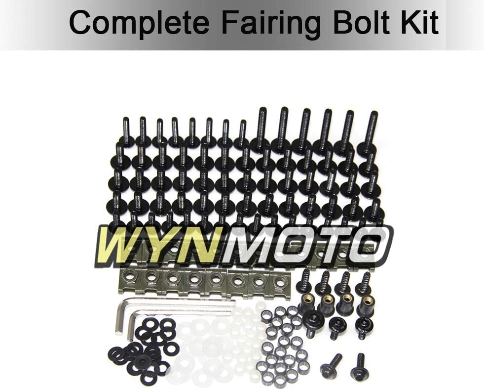 Red WYNMOTO US Stock Complete Motorcycle Fairings Aluminum Fasteners Body Screws For Honda CBR600RR F5 2003 2004 New Bolt Kit Hardware Clips
