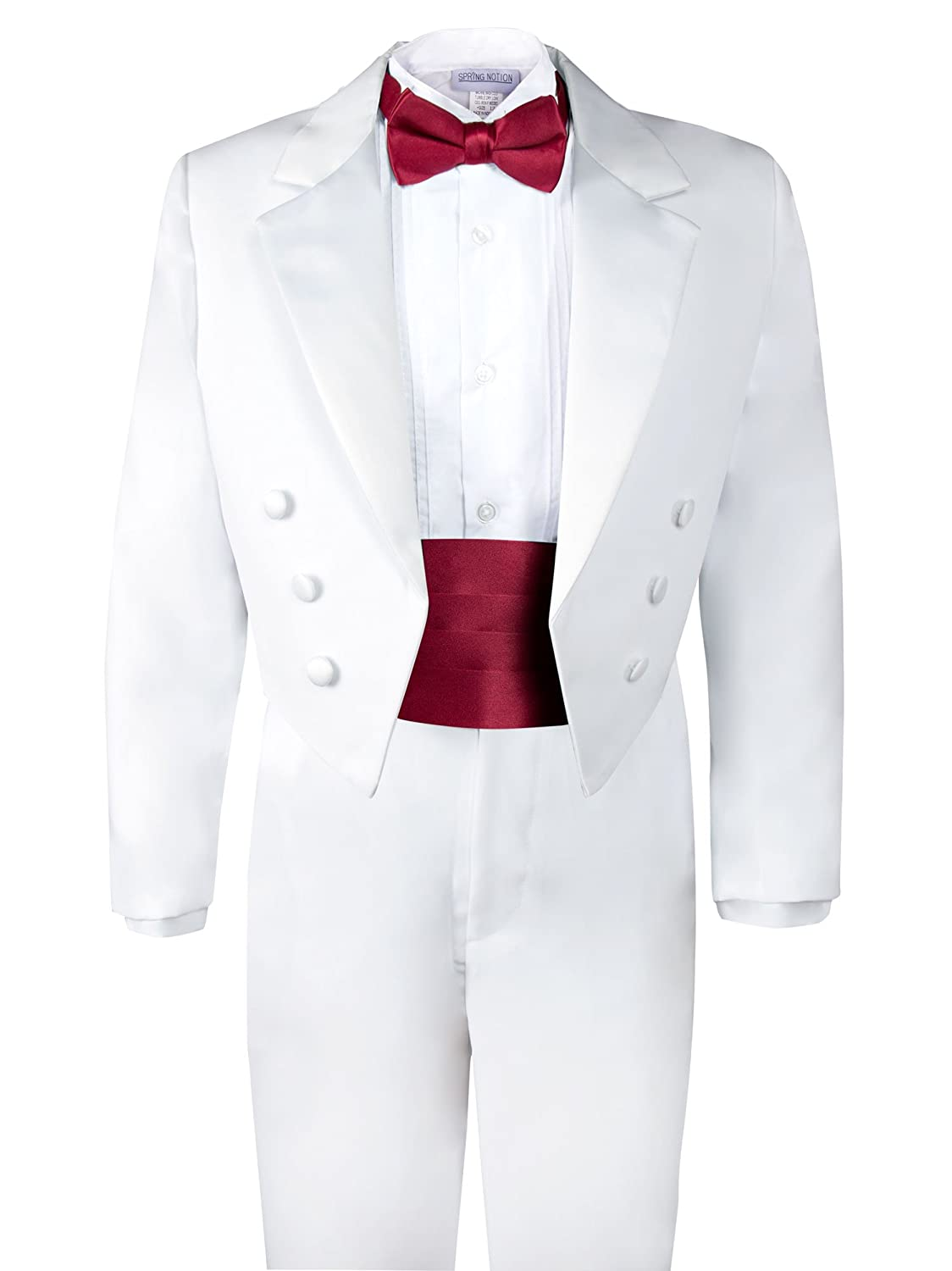 Spring Notion Boys' White Classic Tuxedo with Tail ERF008-SNS-008.WT
