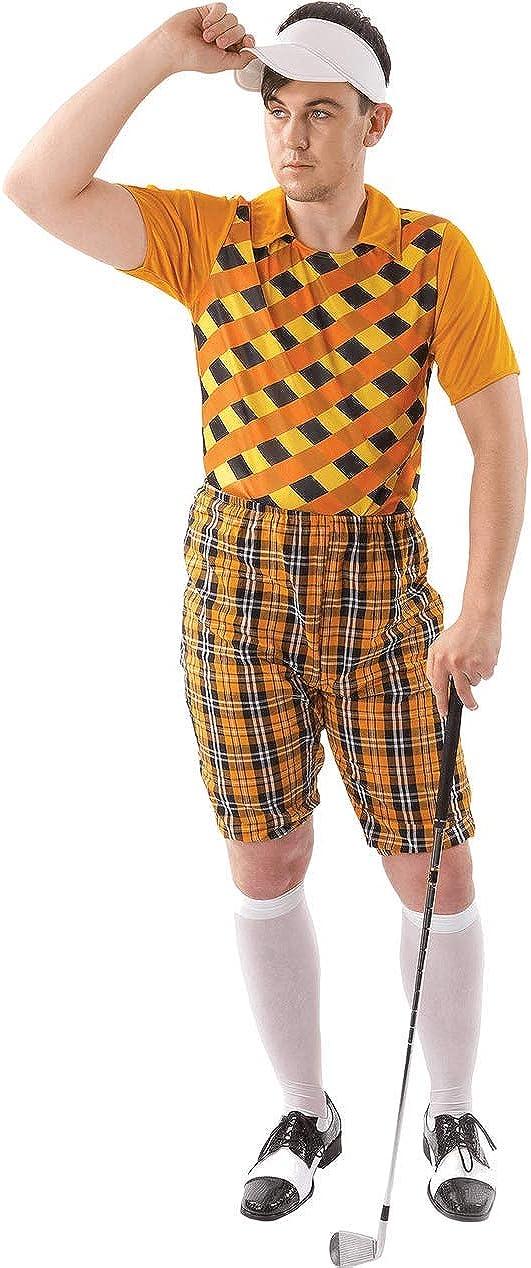 ORION COSTUMES Male Golfer Costume (Orange & Black): Amazon.es ...