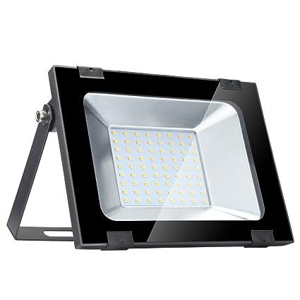 50w Foco Proyector LED de Luz Amarilla para Exteriores, IP65 de lo Impermeable, aluminio