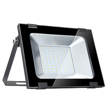 Yuanline Focos LED Exterior de Blanco Cálido 50W 5000LM, 2800-3200k, Ultrafino y