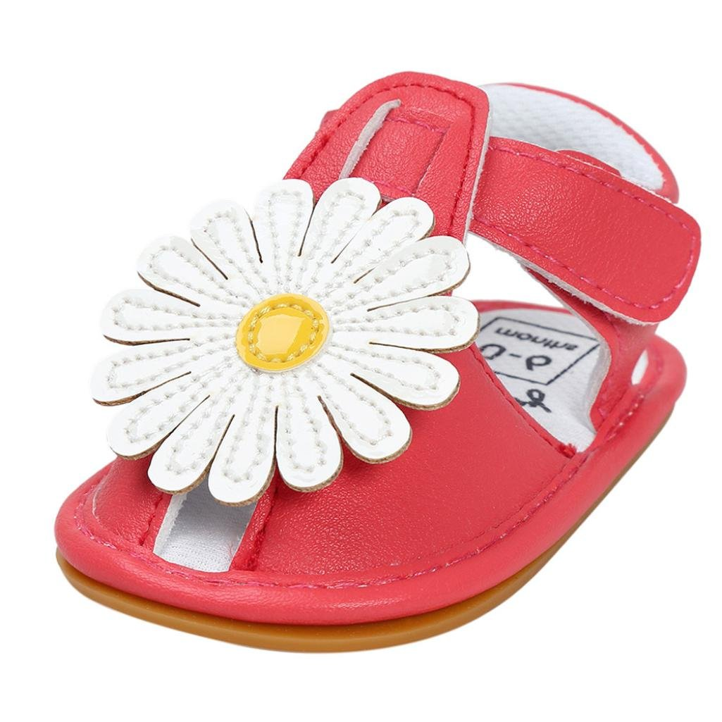 c1661f8a73e8 Baby Girls Flower Sandals Shoe Kenvenz Baby Anti-slip Casual Toddler  Sneaker Shoes (US 2.5