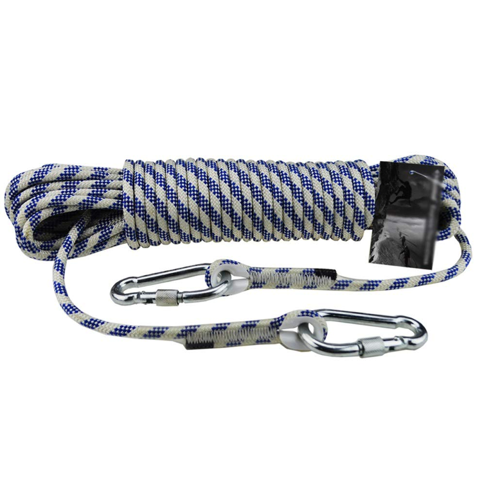 DDSS safety rope Outdoor Climbing Rope 8mm Nylon Rope Exterior Wall Rope Safety Rope, 16 Sizes /-/ (Size : 50M)