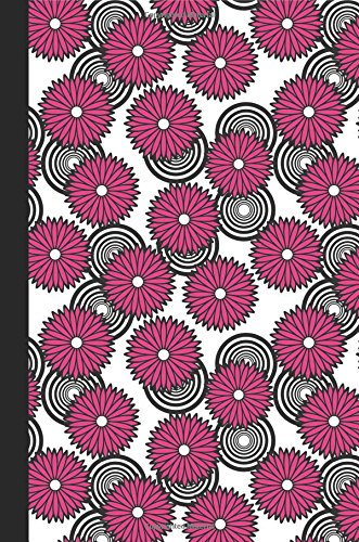 Journal: Spirals and Flowers (Pink) 6x9 - GRAPH JOURNAL - Journal with graph paper pages, square grid pattern (Spirals and Swirls Graph Journal Series)