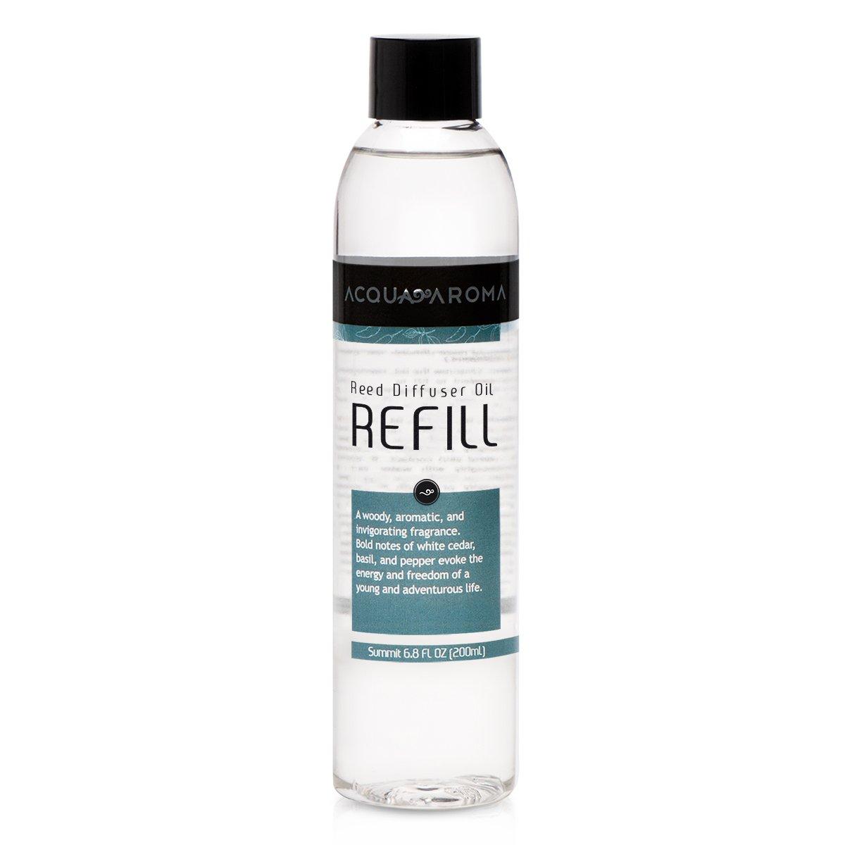 Acqua Aroma Summit (Sandal and Cedarwood) Reed Diffuser Oil Refill 6.8 FL OZ (200ml) Contains Essencial Oils