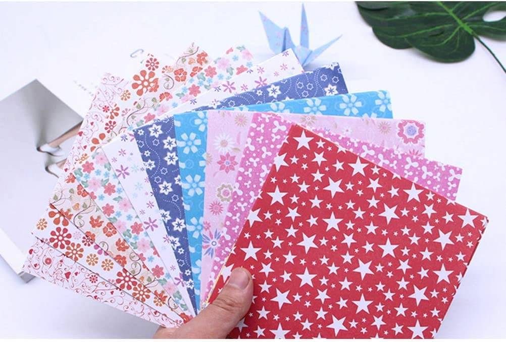 kuou 72 Sheet Origami Paper Single Sided Constellation Square Crafts Paper for Kids Arts and DIY Crafts