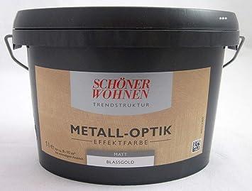 Schoner Wohnen 1ltr Metall Optik Effektfarbe Blassgold Matt Innen Amazon De Baumarkt
