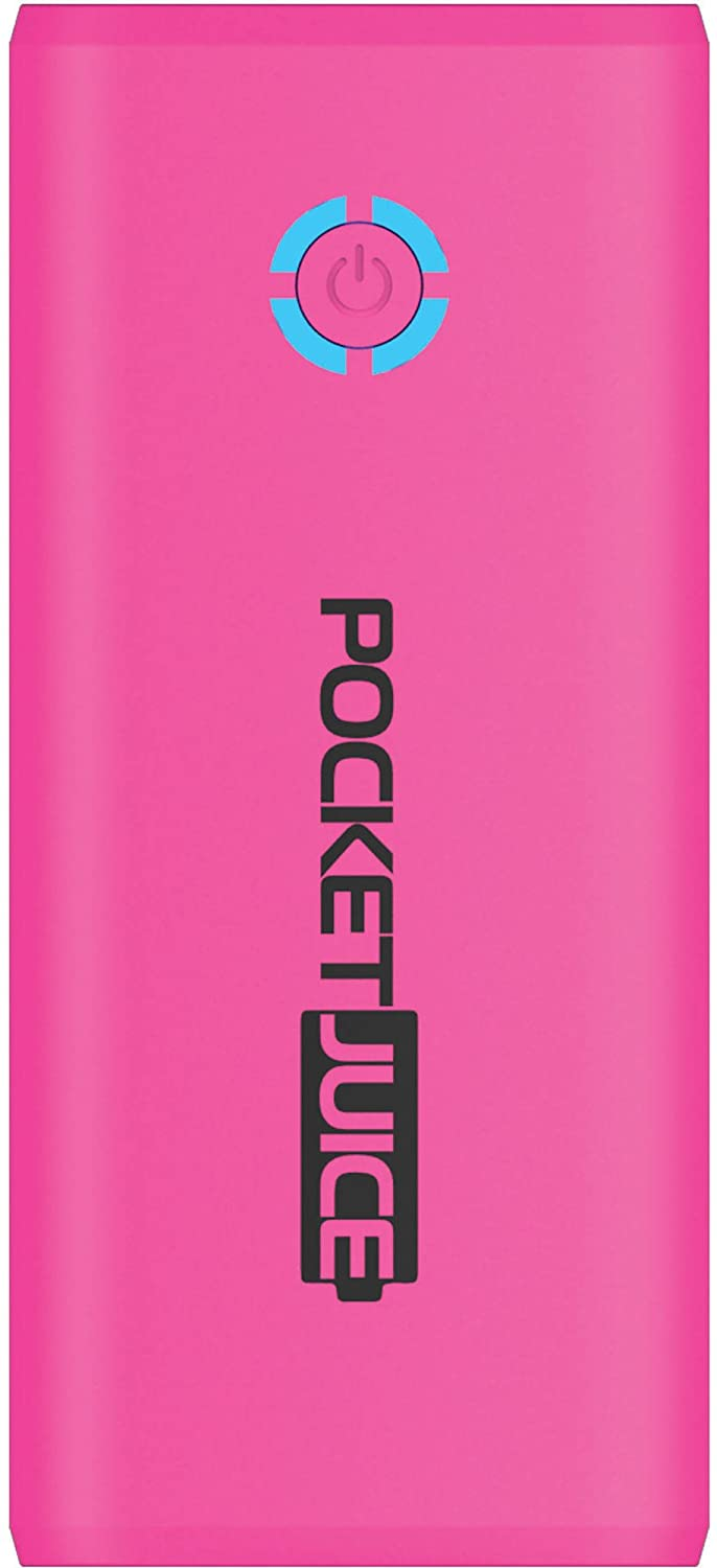 tzumi PocketJuice Mini Portable Charger - 4,000 mAh High-Speed Single USB Port - Compatible with All iPhone and Android Devices & Includes Mini Android-Compatible Micro-USB Cable (Pink)