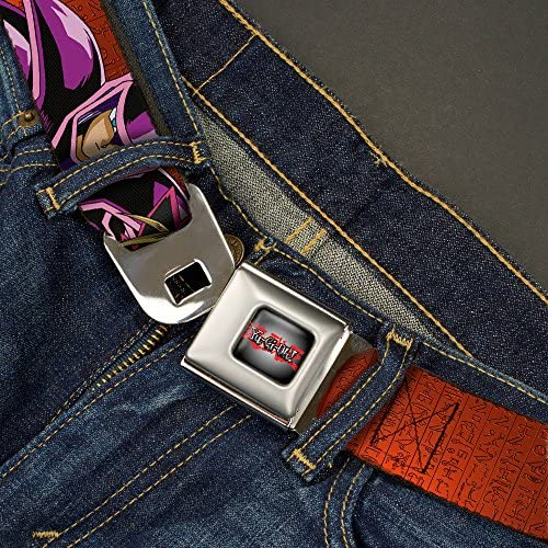 Buckle-Down Seatbelt Belt 1.0 Wide YU-GI-OH Dark Magician /& Yugi Poses//Hieroglyphics Reds 20-36 Inches in Length